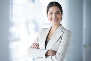 photo CV femme d'affaires en tailleur