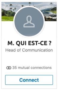 icone par défaut sur profil linkedin sans photo professionnelle